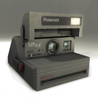 3d old polaroid model