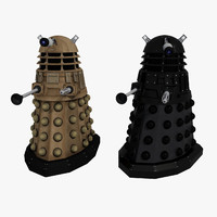 3d model dalek enemy doctor