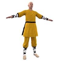 shaolin monk 3d max