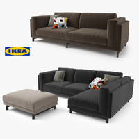 ikea nockeby series sofa 3d model