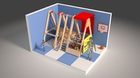 3d model medpoly indoor playground