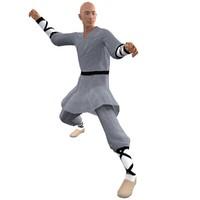 3dsmax rigged shaolin monk