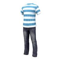 3d model jeans t-shirt