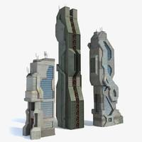 3d sci fi city 9