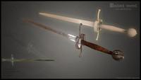 realistic bastard sword games 3d max