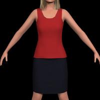 c4d skirt shirt cloth