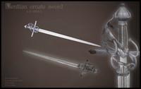 realistic venetian sword games 3d model