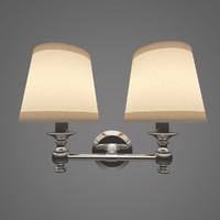 lugarno double sconce lamp 3d max