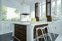 modern kitchen interior design 3d model