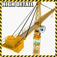 industrial tower crane 3d 3ds