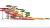 waterslide water slide 3d model