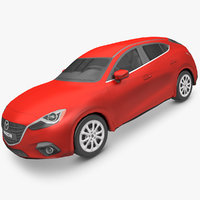 Mazda 3 Hatchback Low poly