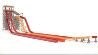 3d model of water slide kamikaze