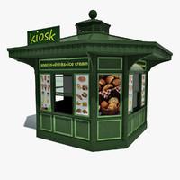 3d kiosk model