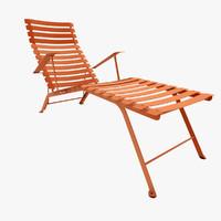 chaise longue fermob bistro 3d max