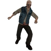 rigged zombie 3d max