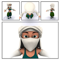 3d model of arab female character
