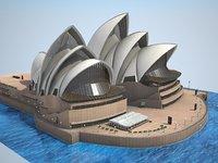 house sydney opera 3d model