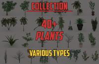 plants pack 3d c4d