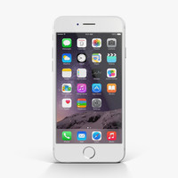 apple iphone 6 silver 3d model