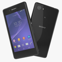 sony xperia e3 black 3d 3ds