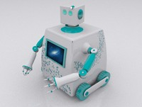 3d model lovebot robot