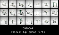 maya outdoor gym equipments