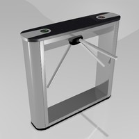 perco turnstile 3d model
