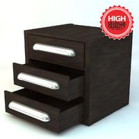 3d model drawer elements