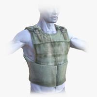 3d bullet-proof vest bullet