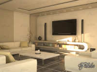 living room 10 day 3d model