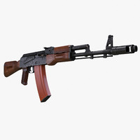 3d model assault rifle ak-74 ak 74
