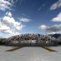 3d model stadium beijing olympic