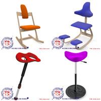 ergonomic seat 3d 3ds