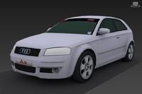 3d 2005 audi a3 quattro model