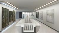 canteen interior scene dxf