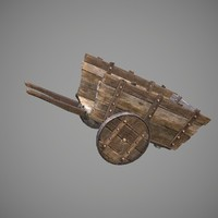 gameready old cart pbr 3d model