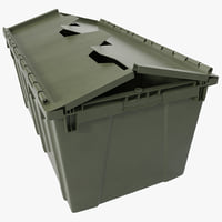 3d model industrial storage bin