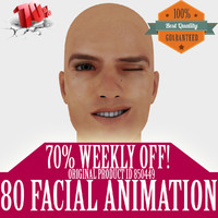 realistic male head animation 3d max