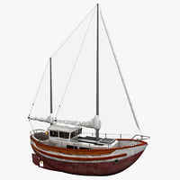c4d sailboat fisher 30 2