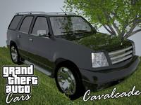 cavalcade grand theft 3d model