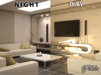3d model living room 10 day