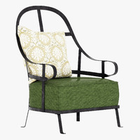 baxter chassis armchair 3d x