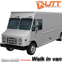 post truck 3d model