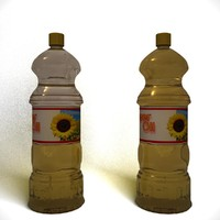 3d model oil bottle