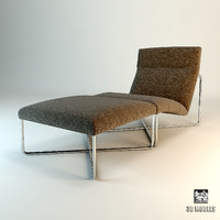 minotti held chaise 3d model