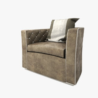 leather horseshoe armchair 3d max