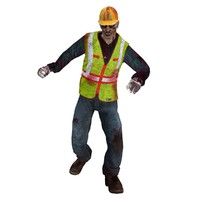 maya rigged worker zombie