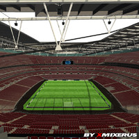 3d stadium ready grass
