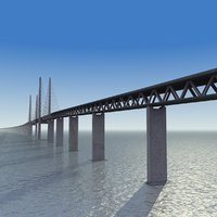 3d Øresund bridge model